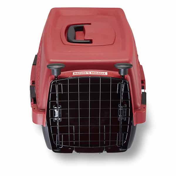 Single Door Plastic Dog & Cat Crate with Antimicrobial Product Protection