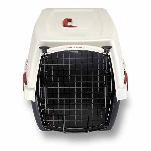Double Door Plastic Dog & Cat Crates with Odor Control Charcoal Filter