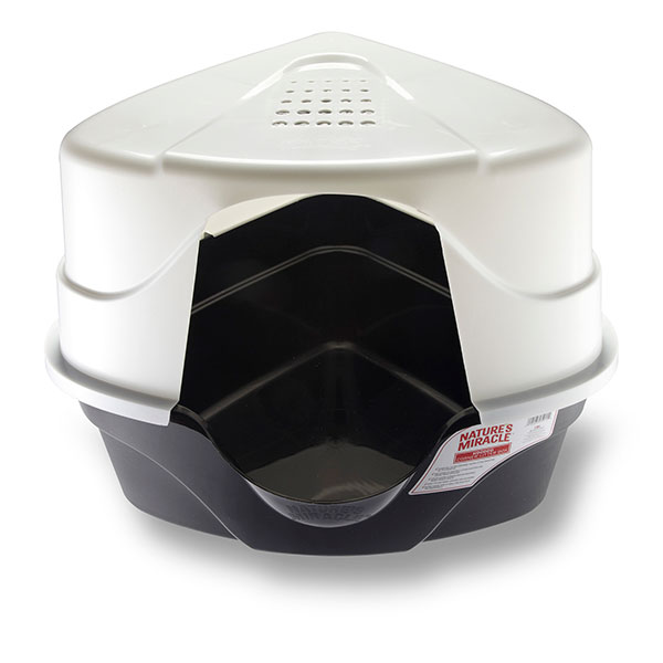 Just for Cats - Hooded Corner Cat Litter Box
