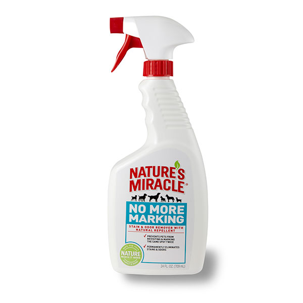Stop cat and dog marking with this specialized pet stain and odor remover from Nature's Miracle.